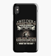 Welding Soft Screen Printed Summer graphic Welder gift Tshirt iPhone Case/Skin