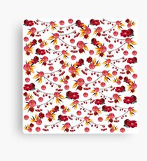 Bright Red Nature Canvas Print