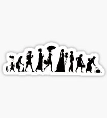 Walk of life: woman | black and white design Sticker