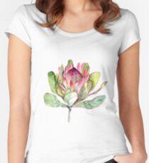 Protea Flower - Botanical Art Women's Fitted Scoop T-Shirt