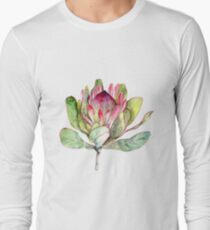 Protea Flower - Botanical Art Long Sleeve T-Shirt