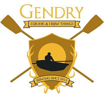 GoT Gendry: Rowing Since 2013 (Dark Tees) by foldandfly