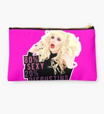 """80% Sexy, 20% Disgusting"" Kata Zamo, Drag Queen, RuPaul's Drag Race Studio Pouch"