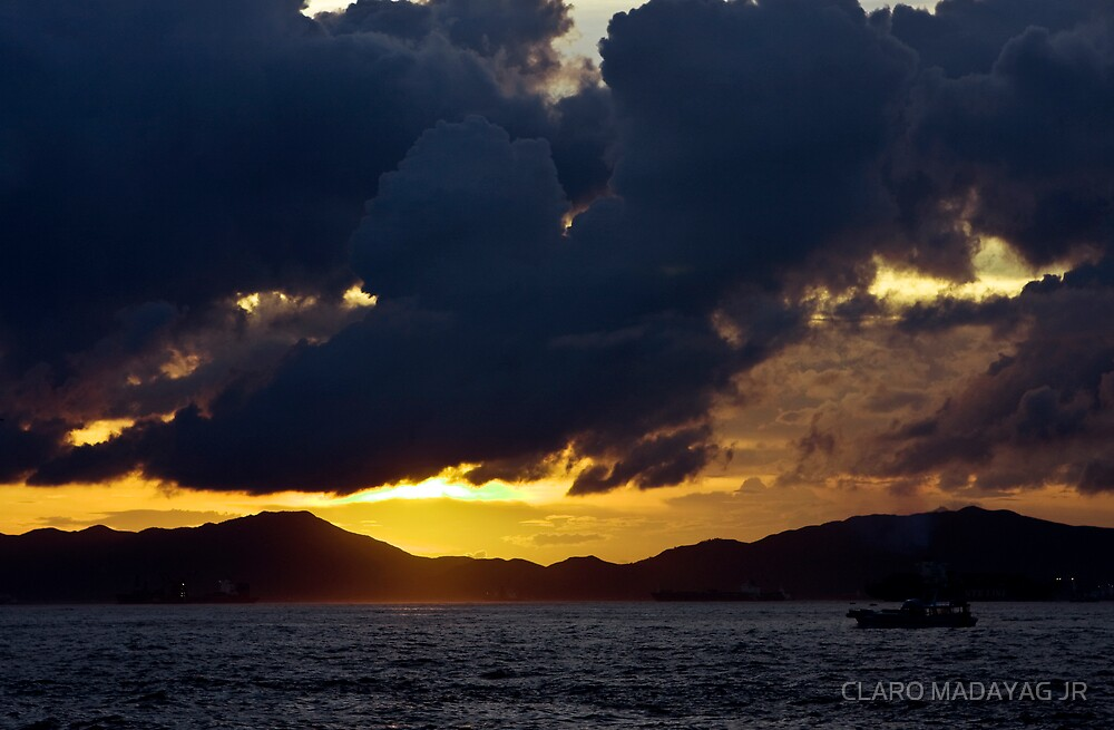 sunset and silhouette by CLARO MADAYAG JR