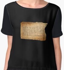Ernest Shackleton New wanted EXPLORERS!! Women's Chiffon Top