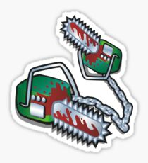 "DEAD END BLOCK - Chainsaw Weapon ""The Twins"" Sticker"