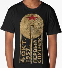 CCCP Sputnik 1 First Satellite Long T-Shirt