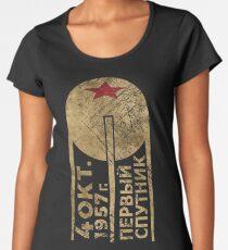 CCCP Sputnik 1 First Satellite Women's Premium T-Shirt