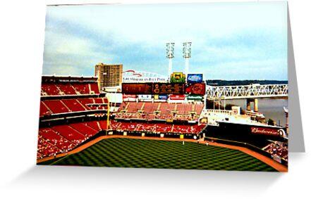 Cincinnati Reds Stadium by Maria Hall