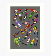 Butt of Superhero Villian - on Dark Art Print