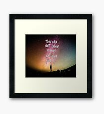 The search for magic Framed Print