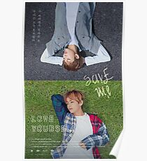 BTS LOVE YOURSELF V & RAP MONSTER Poster