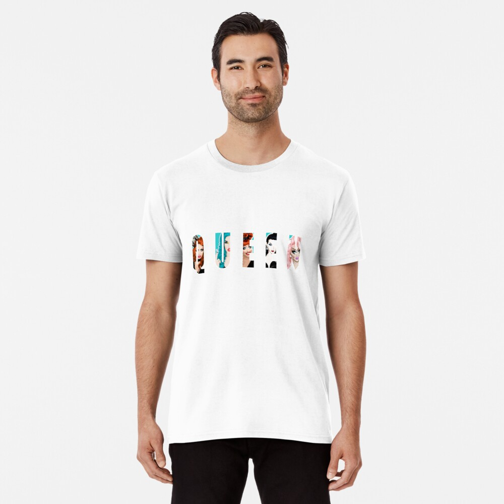RuPauls Drag Race Queens, ft. Bianca Del Rio, Adé Delano, Alyssa Edwards, Violet Chachki und Trixie Mattel Premium T-Shirt