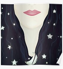 The moon and stars in my hair Poster