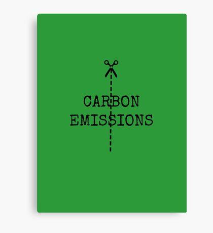 cut carbon emissions Canvas Print