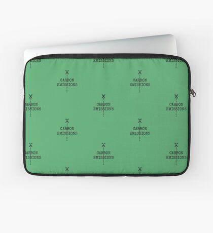cut carbon emissions Laptop Sleeve