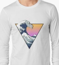 Great Wave Aesthetic Long Sleeve T-Shirt