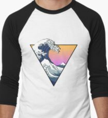Great Wave Aesthetic Men's Baseball ¾ T-Shirt