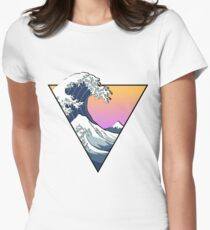 Great Wave Aesthetic Women's Fitted T-Shirt