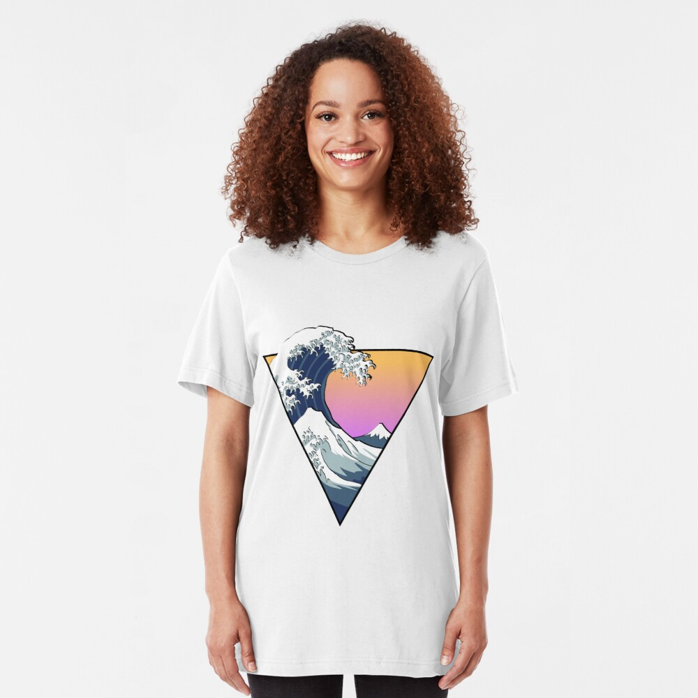 Great Wave Aesthetic Slim Fit T-Shirt