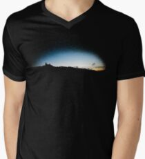 Trosky at dusk, Czech Republic (T-Shirt) Mens V-Neck T-Shirt