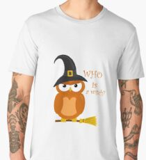 Halloween orange witch owl Men's Premium T-Shirt