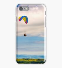 Skydiving  extreme over the mountains iPhone Case/Skin