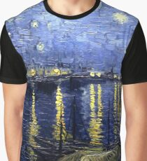 "Van Gogh ""Starry Night Over the Rhone"" Graphic T-Shirt"