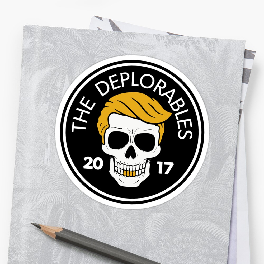 The deplorables trump maga biker skull 2017 by centipedenation