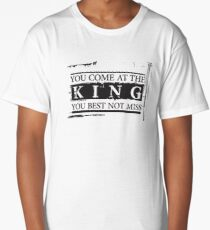 """""""You Come at the King, You Best Not Miss"""" - The Wire (Dark) Long T-Shirt"""