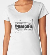 """You Come at the King, You Best Not Miss"" - The Wire (Dark) Women's Premium T-Shirt"