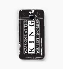 """You Come at the King, You Best Not Miss"" - The Wire (Dark) Samsung Galaxy Case/Skin"