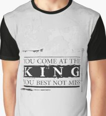 """""""You Come at the King, You Best Not Miss"""" - The Wire (Dark) Graphic T-Shirt"""