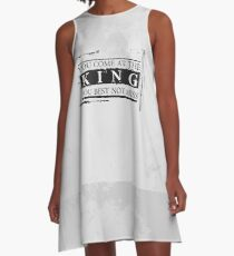 """""""You Come at the King, You Best Not Miss"""" - The Wire (Dark) A-Line Dress"""