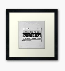 """""""You Come at the King, You Best Not Miss"""" - The Wire (Dark) Framed Print"""