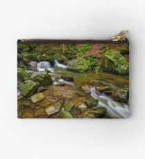 small cascade on the river among boulders Studio Pouch
