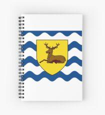 Flag of Hertfordshire, England Spiral Notebook