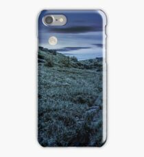 grassy hillside of mountain in summer at night iPhone Case/Skin