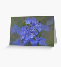 abstract of Cranesbill (wild Geranium) Greeting Card