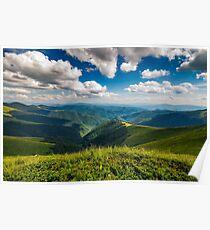 hillside meadow in mountain Poster