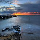 Sunset at Grantville boat ramp by Jim Worrall