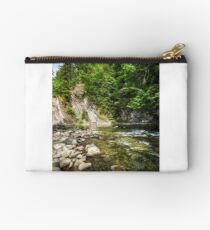rapid flow of the river in forest Studio Pouch