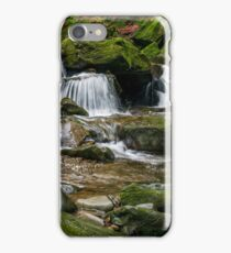 small cascade on the river among bouders in forest iPhone Case/Skin