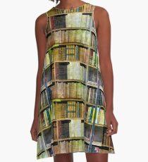 Antike Bücher A-Linien Kleid