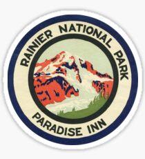 Mount Rainier National Park Vintage Travel Decal Patch Sticker