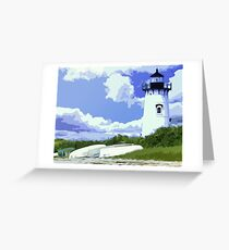 The EdgarTown Lighthouse Greeting Card