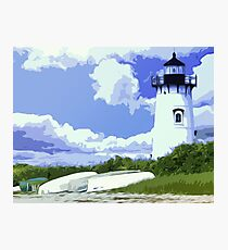 The EdgarTown Lighthouse Photographic Print