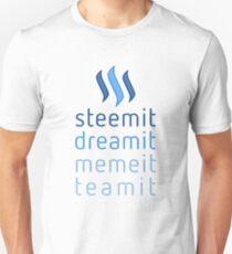 Steemit.com - Dream it, Meme It, Team it - Steemit! (Blue) Unisex T-Shirt