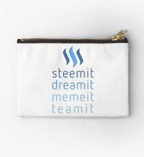 Steemit.com - Dream it, Meme It, Team it - Steemit! (Blue) Studio Pouch