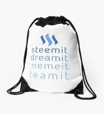 Steemit.com - Dream it, Meme It, Team it - Steemit! (Blue) Drawstring Bag